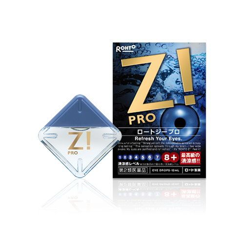 Rohto Z PRO Eyedrops 12ml for tired eyes, blurred vision , ultraviolet ophthalmia by other rays, discomfort when you are wearing the hard contact lenses, conjunctival hyperemia, eye itching , eye disease prevention, blepharitis.