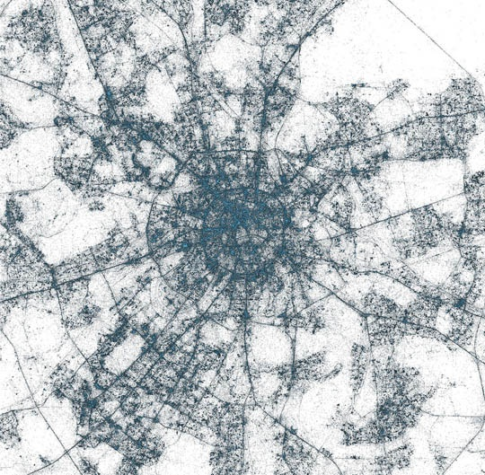 Major Metropolises Visualized Through Tweets
