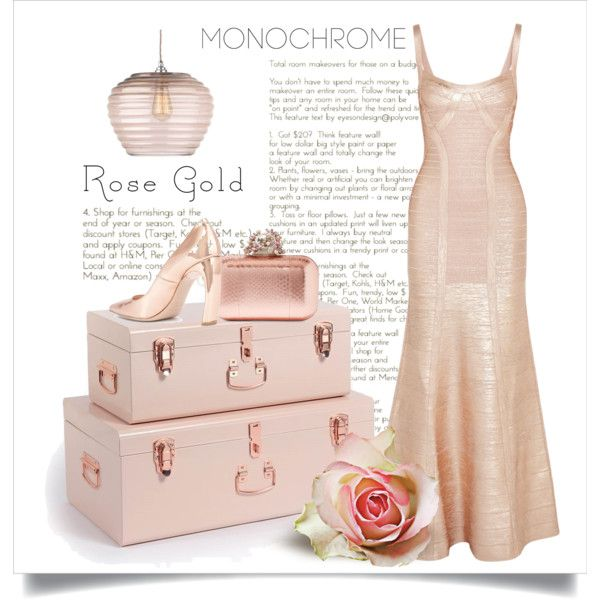 Monochrome Rose Gold Outfit Idea 2017