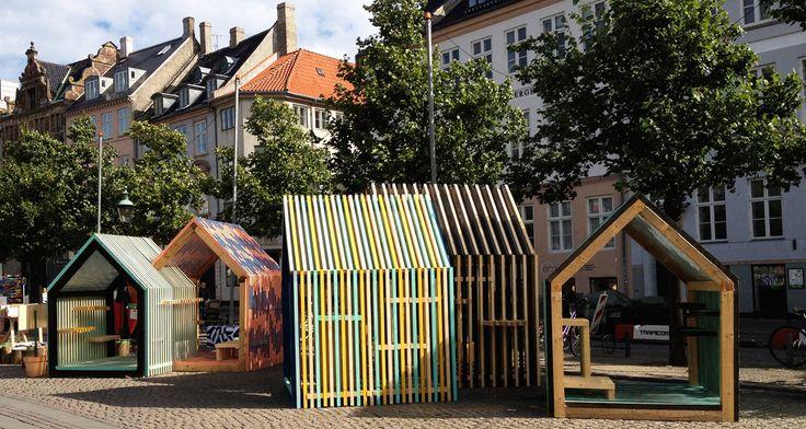 Installation of iconic houses at Ilovit during Copenhagen Art Festival 2012 / Visit www.marialegaardkjeldsen.com for more, details and crediting.