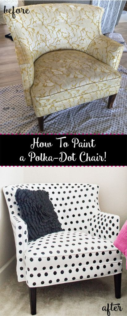 How to paint polka-dot upholstery!