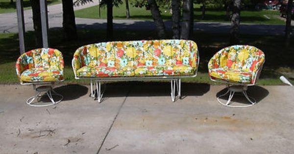 Mid Century Vintage Homecrest Beauteous Patio Cushions Mid Century Patio Furniture Vintage Outdoor Furniture Retro Pink Kitchens