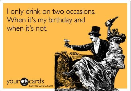 Good excuse for drinkers.