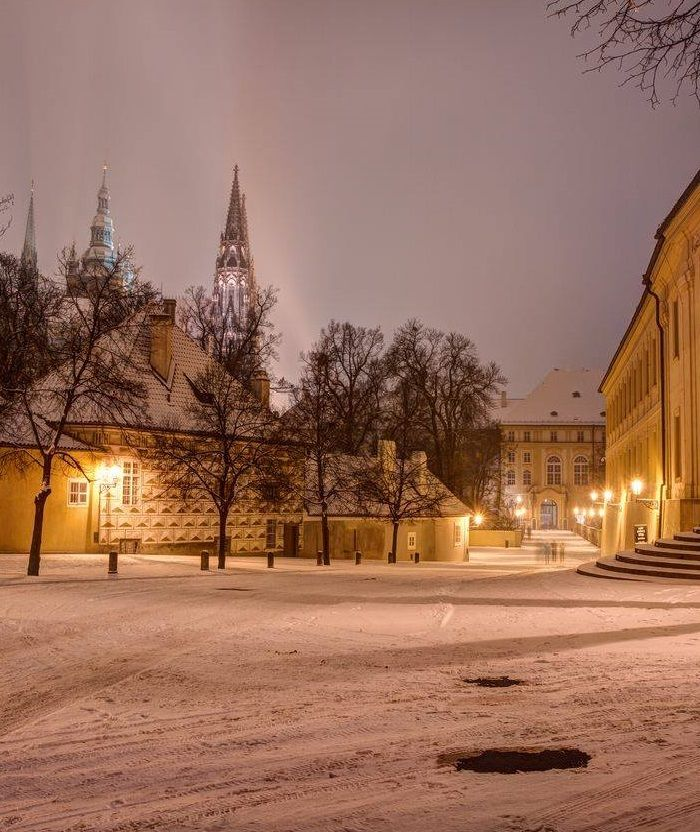From Prašný most to Prague castle in winter, Czechia #winter #Prague #Czechia #praguecastle #visitCzechia