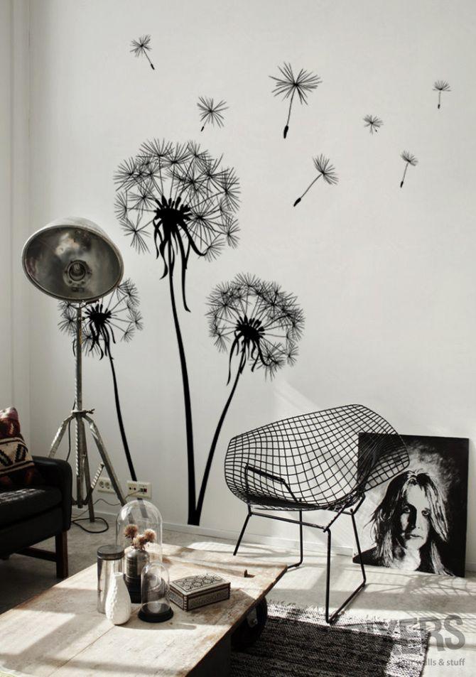 Dandelion - inspiration wall-decals, interiors gallery• PIXERSIZE.com