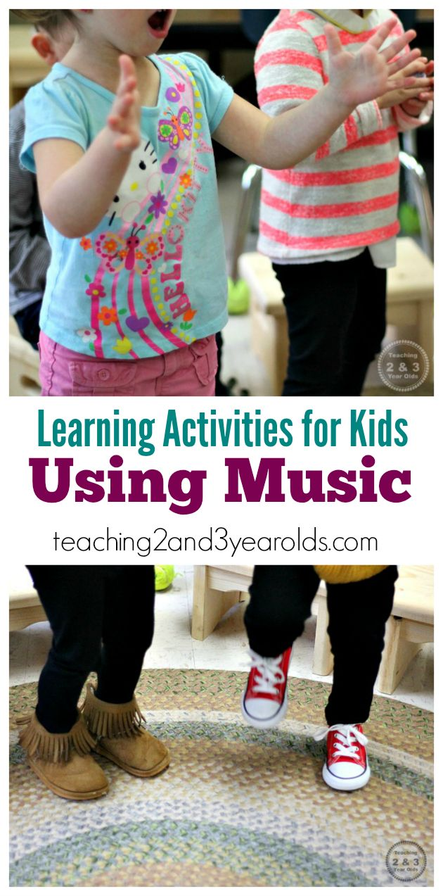 Learning activities using music for toddlers and preschoolers - Teaching 2 and 3 Year Olds