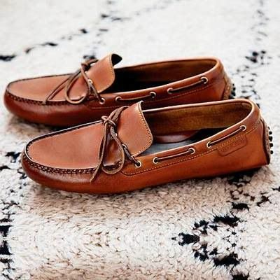 Classic vintage leather boaties