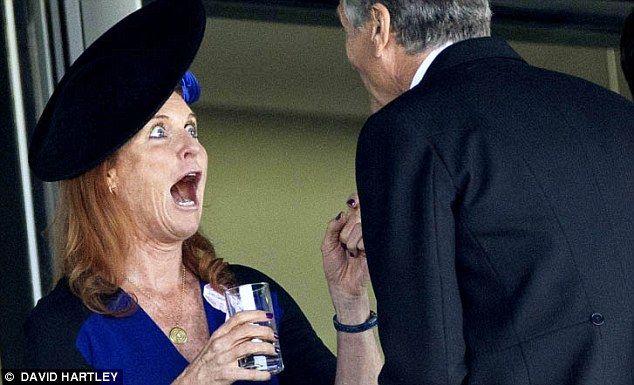 Sarah, duchess of york. Ohhh her expression, hehhe