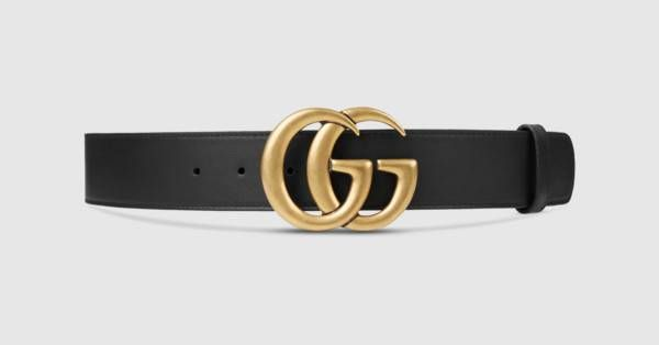 3b1c9c7a0c1a9 Leather belt with Double G buckle - Gucci Women s Belts 400593AP00T1000