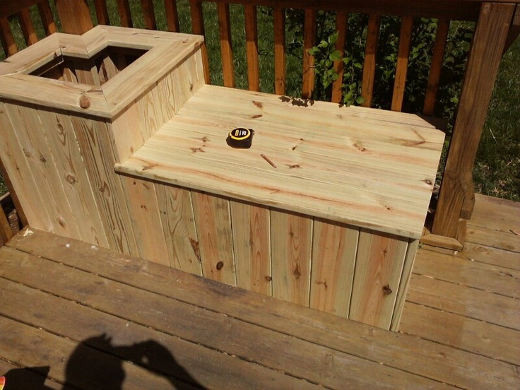 Deck Bench Flower Box Diy Pinterest Flower Boxes Decking And Outdoor Living