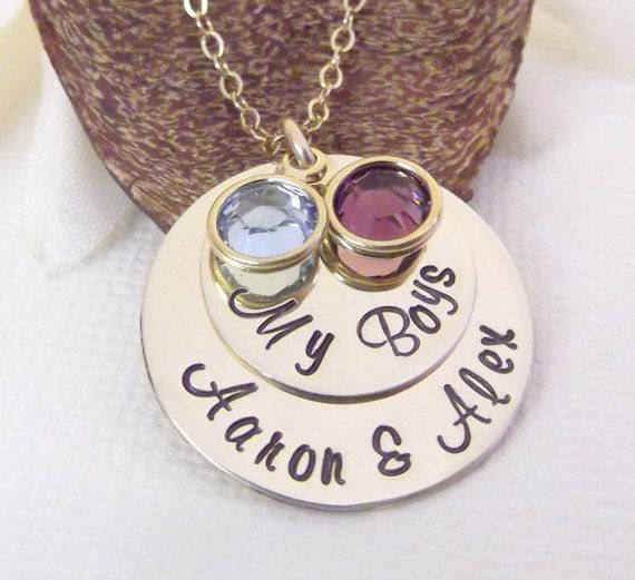 Gold My Boys Necklace Personalized Mommy by MadeFromWithin on Etsy