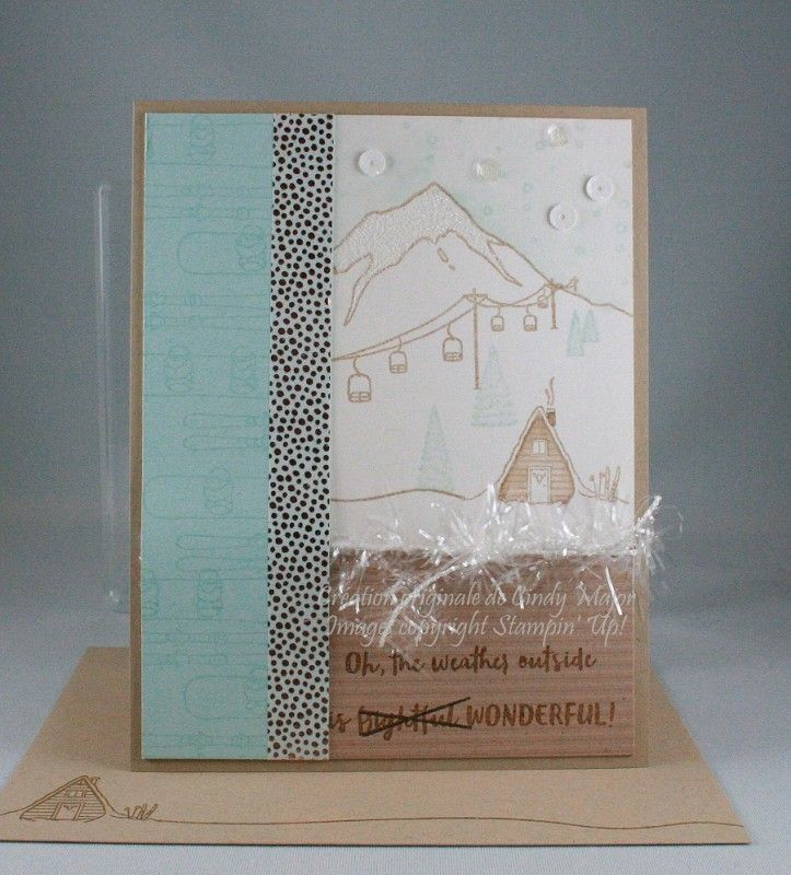 Ski Weather by cindy_canada - Cards and Paper Crafts at Splitcoaststampers