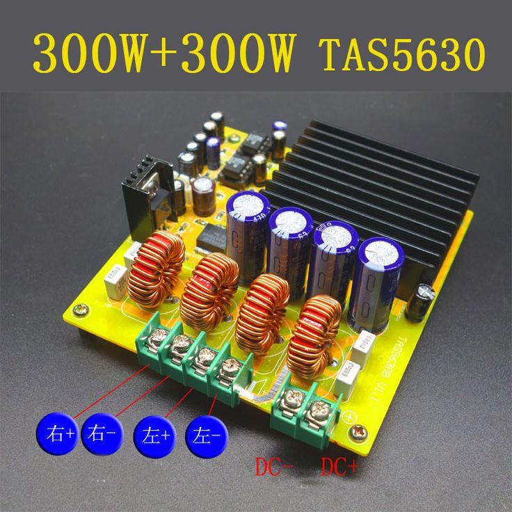 300W+300W TAS5630 Dual Channel Class-D Digital Audio Amplifier Board HIFI AD827 DC20v -DC50V 24v car #Affiliate