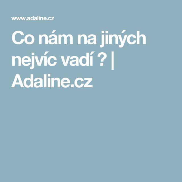 Co nám na jiných nejvíc vadí ? | Adaline.cz