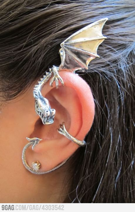 I got you...Fashion, Dragons Ears Cuffs, Stuff, Games Of Thrones, Ear Cuffs, Jewelry, Accessories, Earrings, My Style