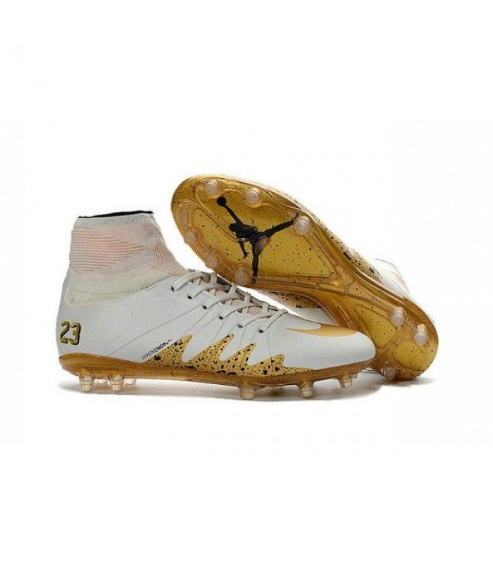 Acheter Nike HyperVenom Phantom 2 FG Chaussures de football Neymar x Jordan Blanc Or pas cher en ligne 123,00€ sur http://cramponsdefootdiscount.com