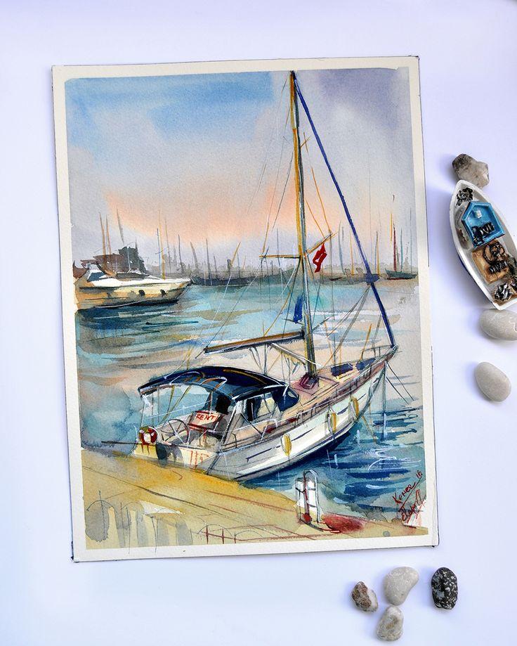 Boat in Kemer on Behance