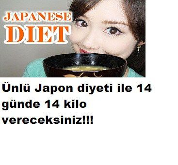 Japon diyeti ile 14 günde 14 kilo verin