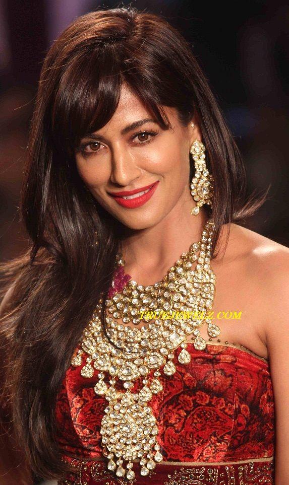 True Jewelz: Chitrangada Singh in Designer Diamond Bridal Jewellery