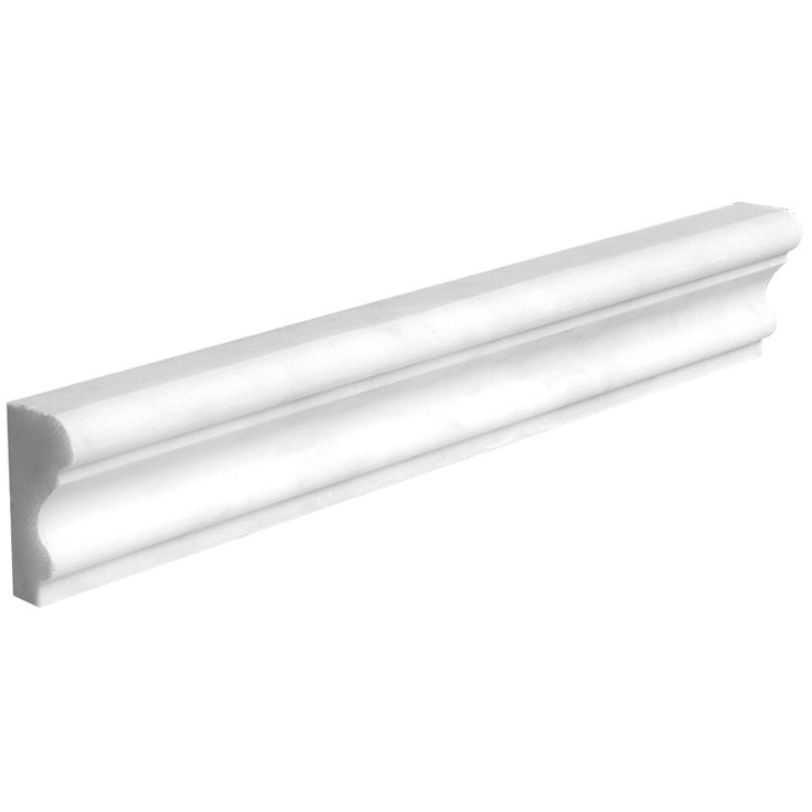 Thassos White Marble 1/2x12 Honed Decorative Pencil Liner ... |Thassos Marble 2x12