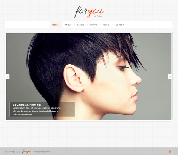 hair salon responsive web template website themes pinterest