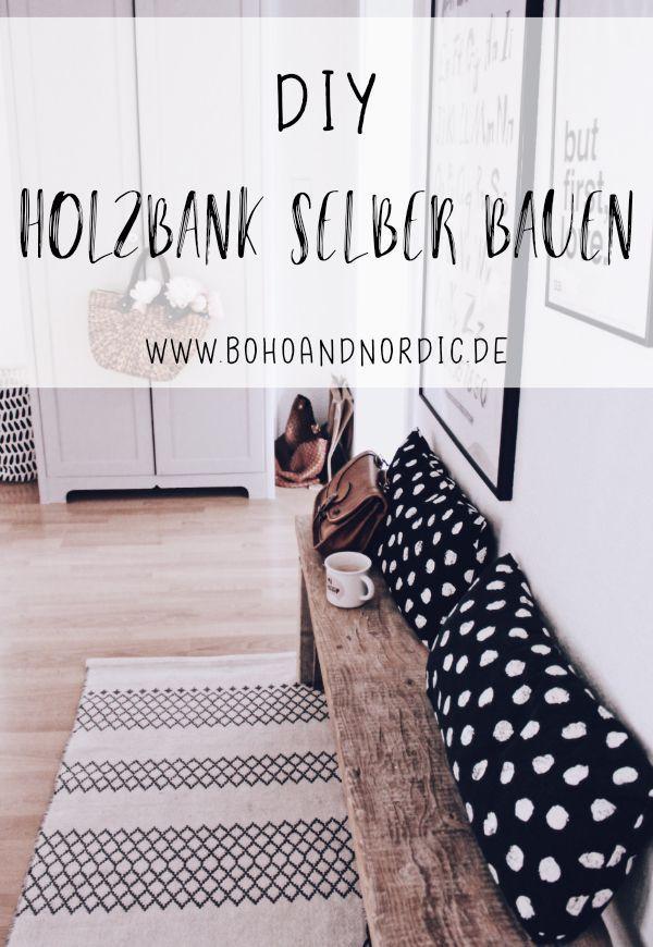 DIY Holzbank Selber Bauen. Möbel Aus Baudielen Selber Machen. Bank Aus Holz  Bauen.