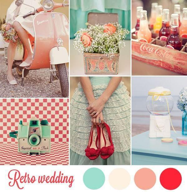 Flowers  Retro Wedding Inspiration and Color Palette | Mint Wedding | Vintage Wedding Colors