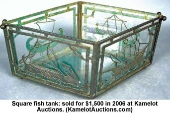142 best images about antique aquariums on pinterest for Square fish tank