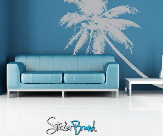 Vinyl Wall Decal Sticker Tropical Palm Tree      by Stickerbrand, $89.95