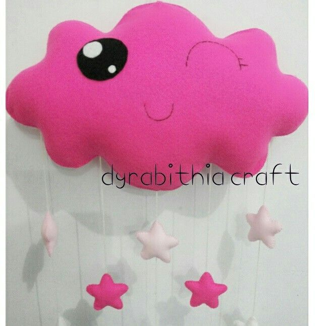 Cute hanging cloud