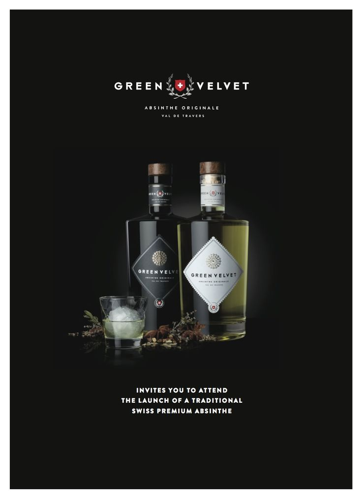 GREEN VELVET ABSINTHE ORIGINALE of Switzerland  Invites you to attend the LAUNCH of a traditional Swiss premium Absinthe in Singapore.  www.83clubstreet.com www.swissdreamssingapore.com