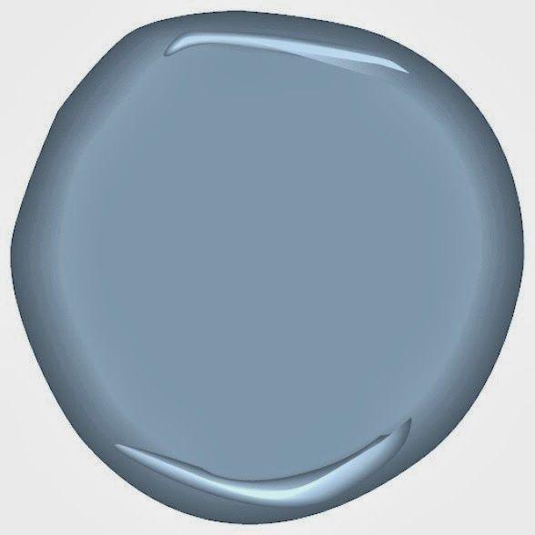 Benjamin moore porcelain glaze blues always look good with for Benjamin moore bone black