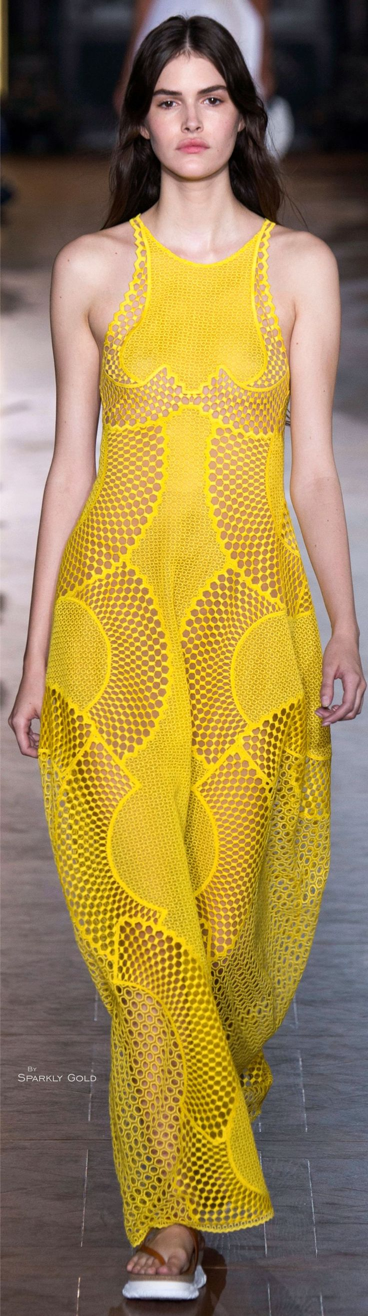 """Stella McCartney Spring 2016 """"And the LORD said to Moses, """"Go to the people and consecrate them today and tomorrow. Have them wash their clothes."""" Exodus 19:10"""