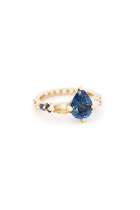 Polly Wales Sky Blue Sapphire Ring. Shop (and get inspired by) it and 70 other alternative engagement rings.
