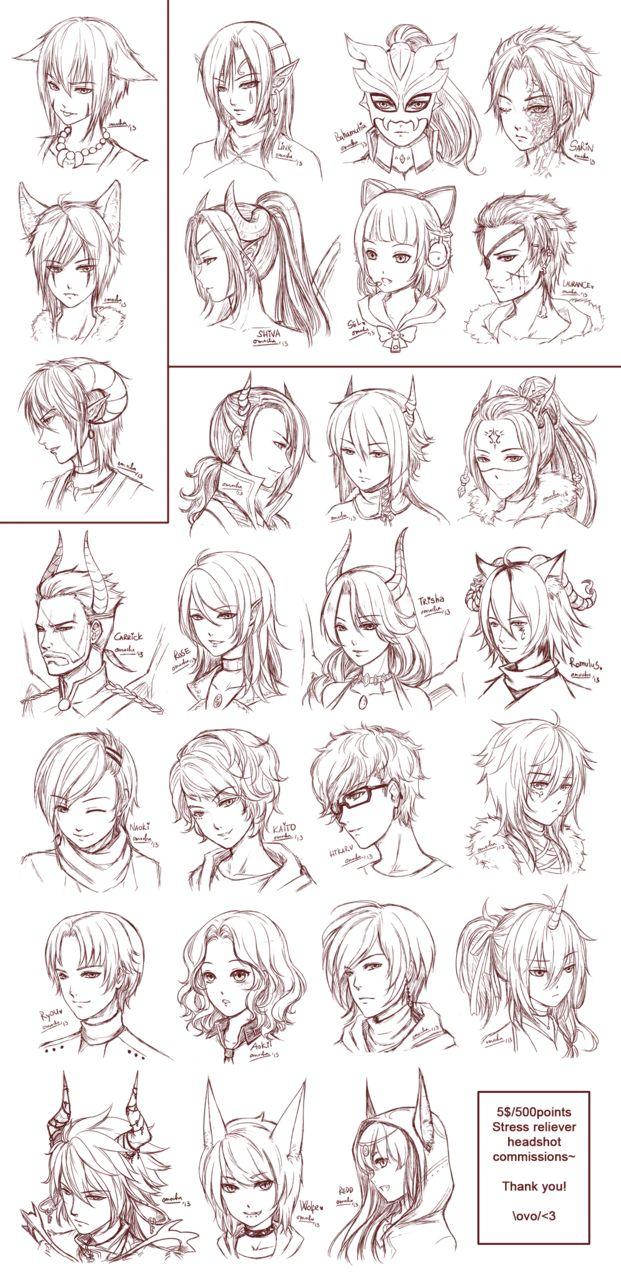 Face studies/hair