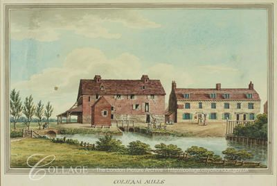 View of Colham Mills in Hillingdon, Middlesex; Hillingdon is now in the London borough of Hillingdon.    c1820