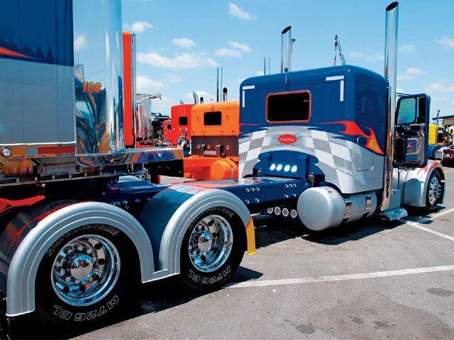 32 best rear view images on pinterest big trucks semi - Bac a semis ...