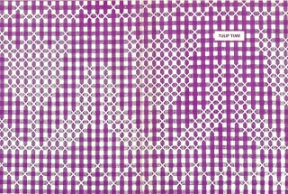 free pattern- 'Tulips & Border' suitable for Chicken Scratch or Cross Stitch!! this would be great for anything in the kitchen, Cafe Curtains, Table Runner or Table Cloth, Border on Tea Towels... i could go on... *from SuesTreeHouse blog