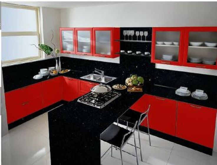 Cocinas dise o de cocinas en color rojo casa for Software cocinas integrales