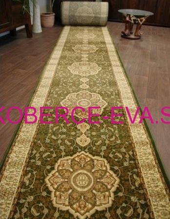 Behúň koberec Heat-set zelený