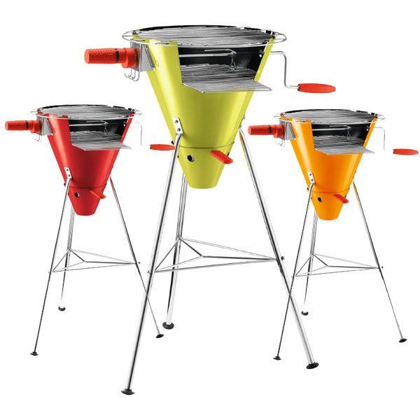 The Bodum Fyrkat rotisserie grill--my backyard needs this!