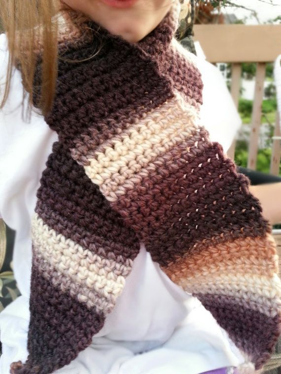 neutral stripe scarf by MomySoso on Etsy, $15.00