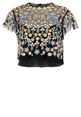 £: FLOWERBED - Camicetta - black
