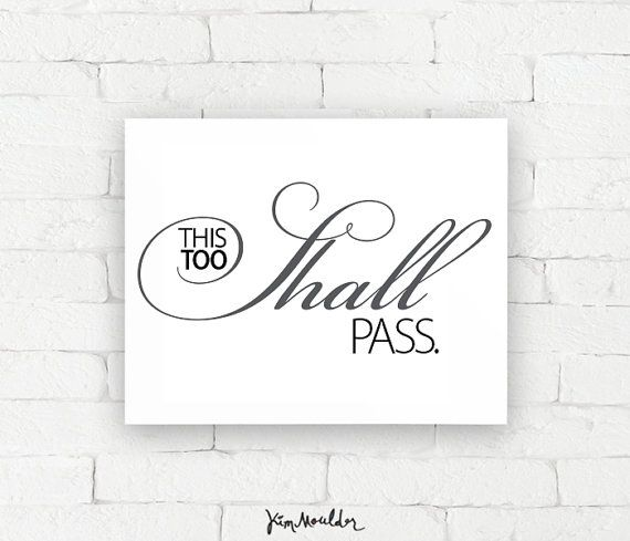 Recovery Art Print | This too shall pass | Giclée, encouragement art ...