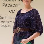 Women's Peasant Top Pattern - Sew a Peasant Top - Melly Sews