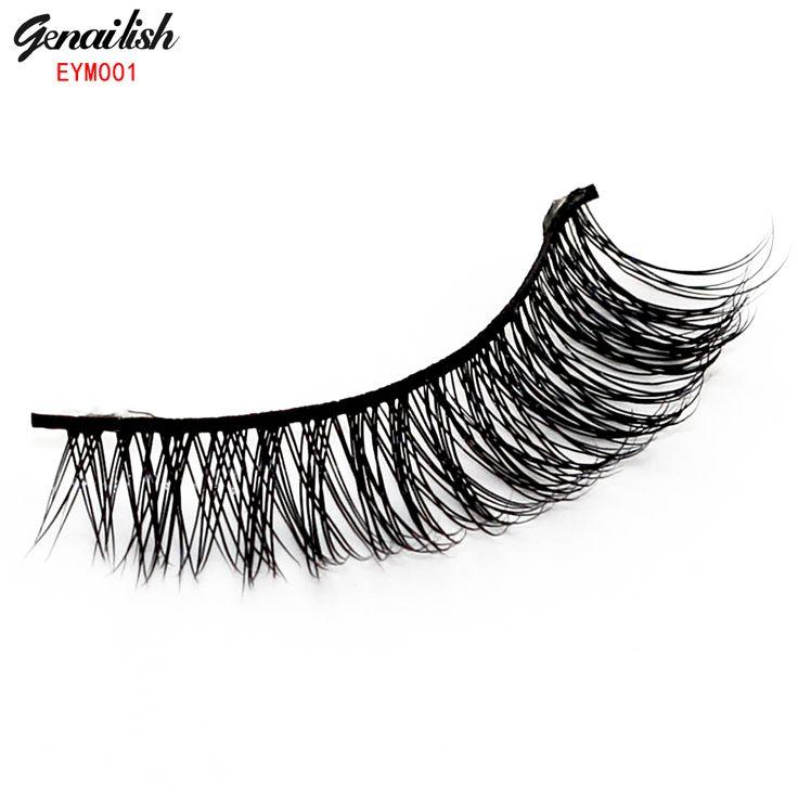 Eym001-1 coppie di visone spessore naturale ciglia finte per beauty trucco naturale estensione ciglia per maquiagem