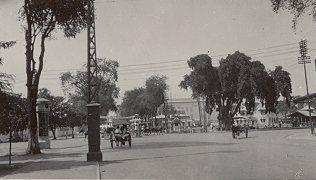 Hoofdstraat in Semarang 1931.