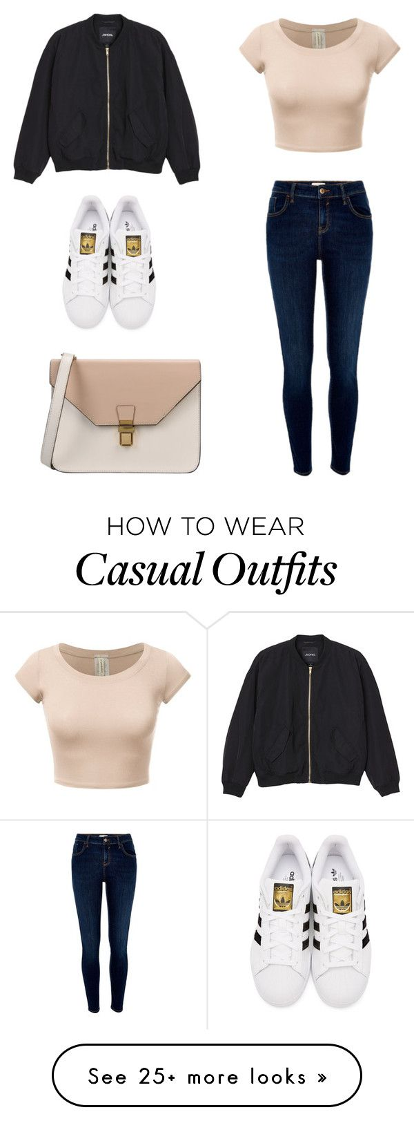 """casual"" by ck74 on Polyvore featuring Monki, River Island, adidas Originals and 8"