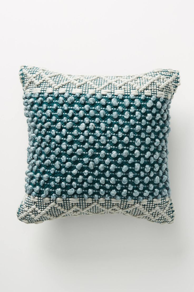 Blue Pillows by Joanna Gaines for Anthropologie, Anthropologie Textured Eva Pillow