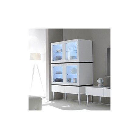Best 25 vaisselier moderne ideas on pinterest vaisselle palette de couleu - Range cd blanc laque ...